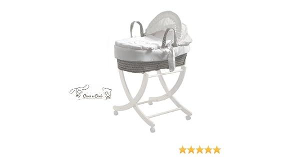 Pali fahrbares untergestell für babykörbe buche massiv weiß zizzi