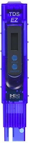 HM Digital TDS-EZ Water Quality TDS Tester, 0-9990 ppm Measurement Range , 1 ppm Resolution, +/- 3% Readout Accuracy