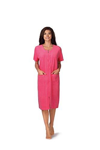 Comtessa Damen Strandkleid leicht Frottee Farbe: Pink Gr. 36/38