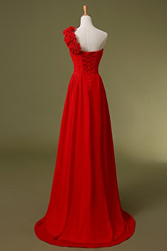 Sarahbridal Damen Chiffon Herzenform Ballkleid Brautjungfernkleider Lang Faltenrock Abendkleider SSD182 Lila-126