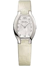 Ebel Women's White Leather Band Steel Case Swiss Quartz MOP Dial Watch 1216207