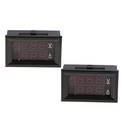 gazechimp LED Digital Voltmeter Amperemeter DC 100V 20A Ampere Spannungsprüfer R/R Dc Amp Meter
