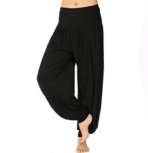 BeautyWill Haremshose Jogginghose Yoga Pilates Hosen Freizeithosen Weiche Modal Lange Hose für Damen