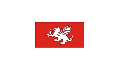 GIZZY weiß Dragon of England (Pendragon) 45,7x 30,5cm Ärmeln Flagge