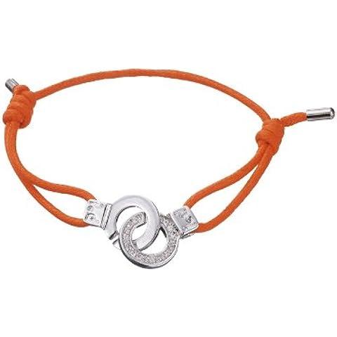 I.D X-Change polsino di amore arancione satinato cavo