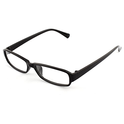 sourcingmapr-unisex-black-clear-frame-single-bridge-rectangle-lens-plain-glasses-eyeglasses