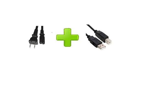 AC Power Cord Cable Plug For Canon PIXMA MX320 MX330 MP510 MP540 S9000 Printer USB Cable Cord