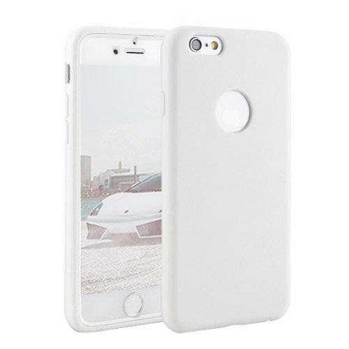 F8Q Rugged All Inclusive Couverture antichoc équipée caoutchouc hybride pour iPhone 6 / 6s blanc