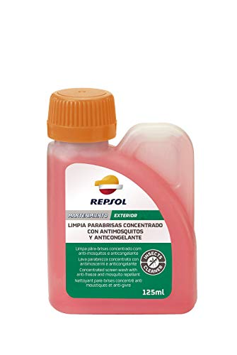 REPSOL CLEAN WINDSCREEN CONCENTRATED ANTIMOSQUITOS AND ANTIFREEZE 125 ML