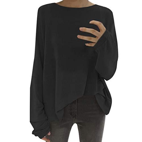FeiliandaJJ Womens T Shirts, Ladies Sexy Fashion Winter Autumn Long Sleeved Crew Neck Batwing Sweatshirt Casual Tops Blouse