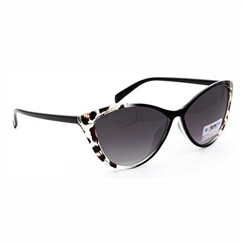 Isurf eyewear occhiali da sole marca modello canary sun vestibilita' piccola modello a gatta (nero lente scura con montatura semi maculata)