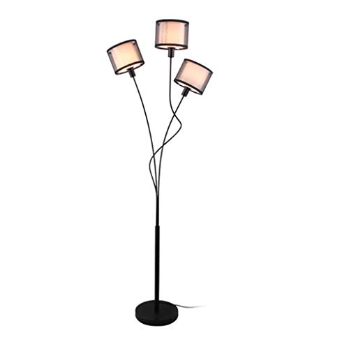 *Stehlampe Stehlampe, 3 hängende Lichter LED gebogene Stehlampe für Hauptstudio-Stehlampe Entwerfer-Lampen-Fußschalter-Stehlampe Stehlampe gewölbt (Color : Foot switch)