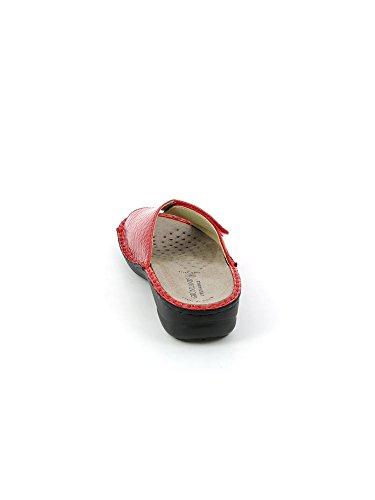 Grunland 68 DARA CE0507 Ciabatta Donna Pelle Beige Rosso