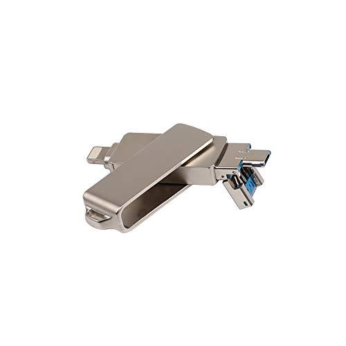 Walmeck USB Flash Drive 3 in 1 Lightning/Micro USB/USB 2.0 for iPhone iPad Mini Memory Stick 16GB 32GB 64GB 128GB Pen Drive U Disk