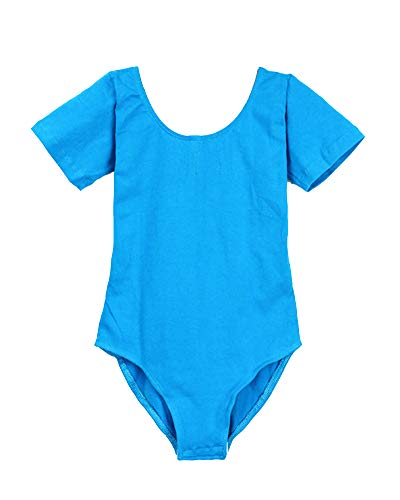 Samt Gymnastikanzug Kostüm Kind - ShiFan Mädchen Ballettbody Kinder Kurzarm Langarm Ballettanzug Kostüm Trikot Gymnastikanzug Lac Bleu 1 105