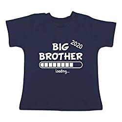 Geschwisterliebe Baby - Big Brother 2020 Loading - 18/24 Monate - Navy Blau - BZ02 - Baby T-Shirt Kurzarm