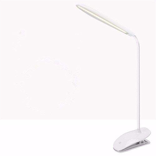 DHG Tischlampe-LED Lampe Auge Schreibtische Schlafsaal Studie Lampe Clip Lade Auge Licht Kleine Lampen,Weiß