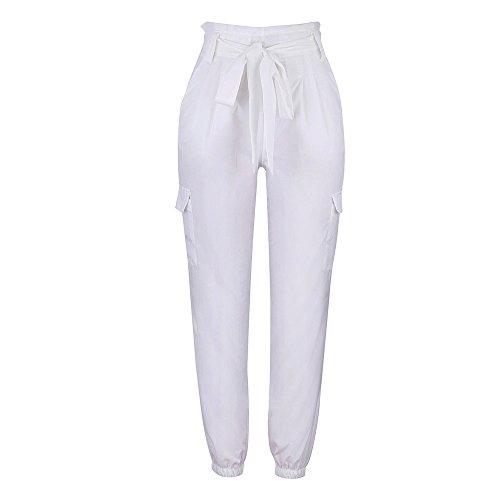 YWLINK Damen Kleidung,Frauen Reizvolle Hohe Taillen Mode Breite ZufäLlige Bein Sommer Strand Taschen Hosen