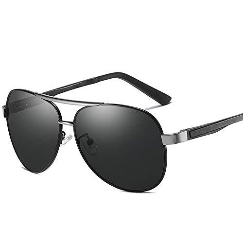 Fahren · Metallrahmen · UV 400 UV · Starke Lichtblendung · Gegen Blendung abgeschnittene polarisierte Sonnenbrillen Herrenmode Sonnenbrillen und flacher Spiegel ( Color : Silber , Size : Kostenlos )
