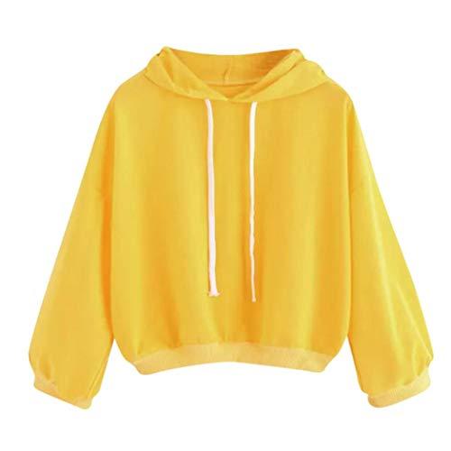 Strung Damen Herbst Winter Kapuze Casual Sweatshirt Outwear Crop Tops Bluse Pullover Cardigan...