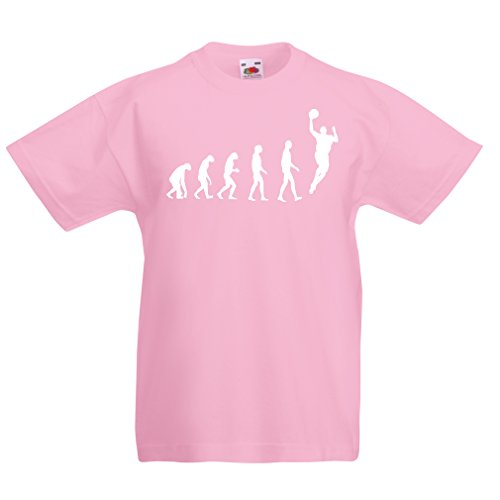 lepni.me Kinder T-Shirt Evolution Basketball (3-4 years Pink Weiß) (Pink In Bekleidung Warriors)