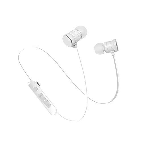 AchidistviQ Sport Wireless Stereo Sound Bluetooth 4.1 Running Smartphone In-Ear Kopfhörer weiß