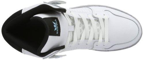 Supra VAIDER LITE, Hi-Top Slippers mixte adulte Blanc - Weiß (WHITE/TOPAZ - GREY WCL)