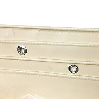 Plane Wasserdichte Dichtem, Strapazierfähigem PVC-Regenschutztuch, Außenfachstoff, 600g / M², Hellgelb (größe : 5x5m)