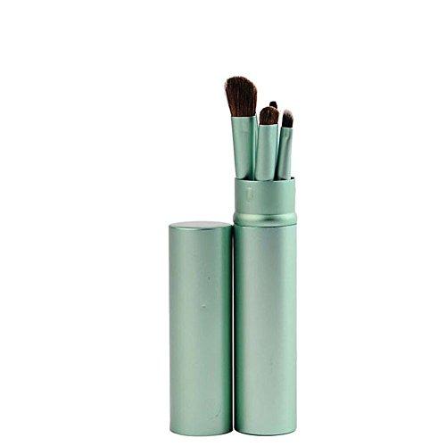 Scrox 5 Pcs Brosse de maquillage portable Ensemble de pinceaux pour les yeux Eyeliner Outil de maquillage des cils (Vert)