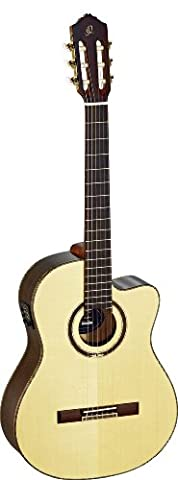 Ortega Guitars RCE158SN Feel Series Slim Neck Nylon 6-String Guitar with Solid Spruce Top, Rosewood Body and