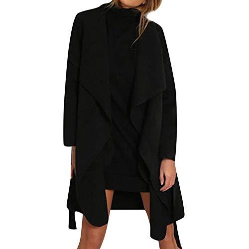 Sannysis Damen Herbst Winter Cardigan Lange Ärmel Pullover Frauen V-Ausschnitt mit Tasche Langärmeligen Wollmantel