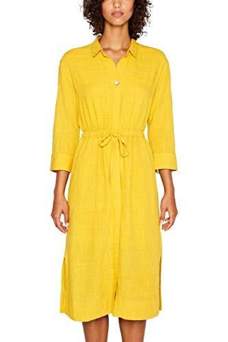 edc by ESPRIT Damen 039CC1E007 Kleid, Gelb (Honey Yellow 710), (Herstellergröße: 36)