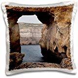 Rock Formations - Malta, Gozo, Dwejra, Rock Arch on Dwejra Bay 16x16 inch Pillow Case