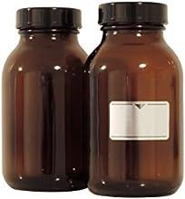 Viva-Haushaltswaren-25500ml./5botellas vasos farmacia en marrón cristal, incluye etiquetas