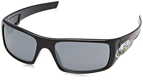 Oakley Herren Crankshaft 923918 60 sonnenbrille, Schwarz (Polished Black/Blackiridium),