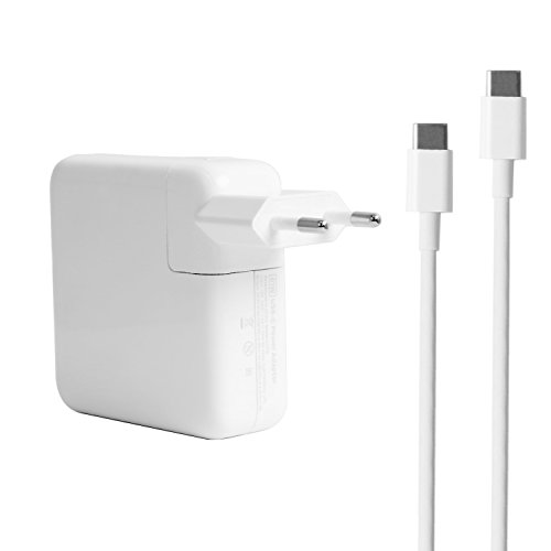 61W USE-C Power adapter Charger for Apple MacBook Pro 13 inch With 6.5Ft Charging Cable & a Carrying - Macbook Adapter Pro Apple