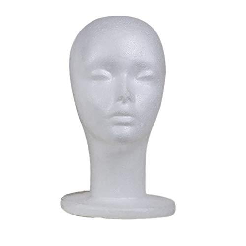 Blanc Mannequin tête d affichage pour perruque polystyrène Tête de  mannequin Modèle Lunettes de soleil a193bad31b7