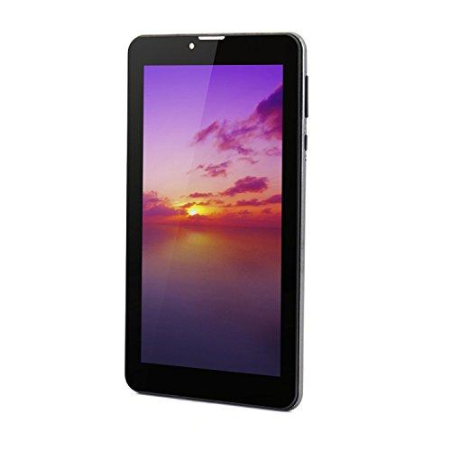 Tableta Android 7 pulgadas con ranuras para tarjetas Sim 1GB RAM 8GB ROM MTK8321 Cortex A7 Quad-core 1.3Ghz Pantalla IPS 600 × 1024 Dual Camera 3G Teléfono GSM con Tablet PC desbloqueado con Wifi, GPS - Gris
