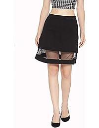 Rider Republic Women Black A line Skirt