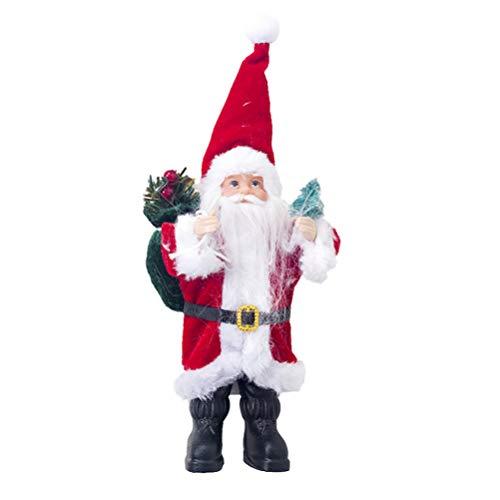 Amosfun Babbo Natale Bambola Babbo Natale in Piedi Ornamenti Natalizi Giocattoli Regalo Decorazione della Camera da Letto per Bambini