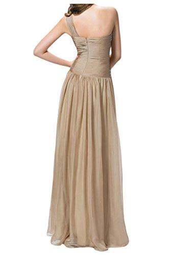 Sunvary elegante inclined-Rhinestones shoulder Fiesta ballo del vestito da sera Verde