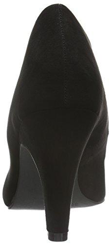 BIANCO - High Collar Pump Jja16, Scarpe col tacco Donna Nero (Schwarz (10/Black))