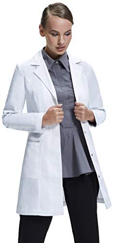 Dr. James Taillierter Laborkittel für Damen DE-18-A, Gr.-34 EU, Weiß -
