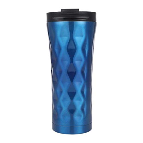 Kakiyi 500ml Doppelwand-Edelstahl-Auto-Kaffeetasse Thermobecher Insulated Sports Daily Vacuum Wasserflasche