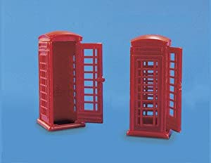 Model Scene OO 2 Red Telephone Kiosks