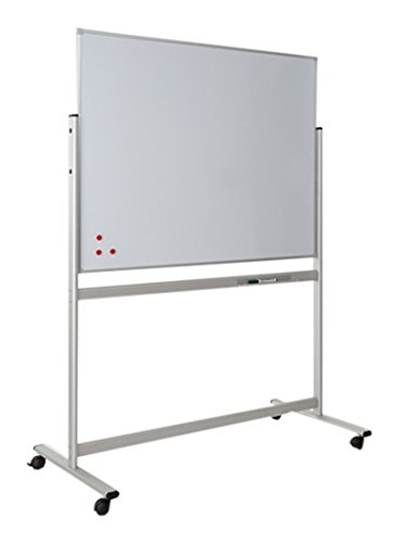 Pitts Presentation 1500 x 1200 mm Landscape Mobile Writing Magnetic Whiteboard with Fixed Frame