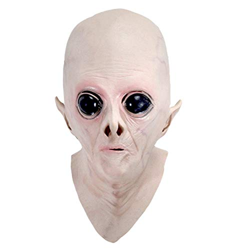 Starall Halloween gruselig Vinyl UFO Alien Kopf Maske Cosplay Party ()
