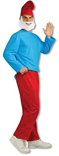 Papa Schlumpf Erwachsenen Kostüm