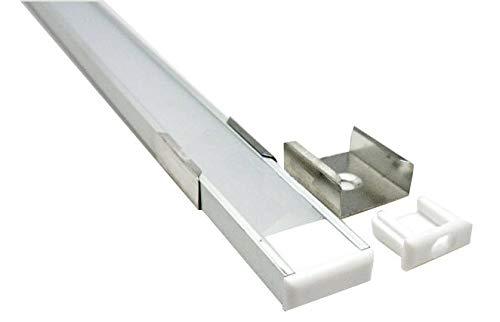 LED Aluminium Profil Schiene flach -1m