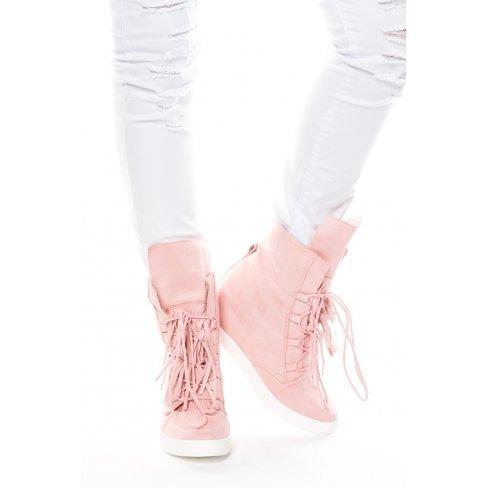 Princesse boutique Baskets compensées ROSES Rose Peu Coûteux